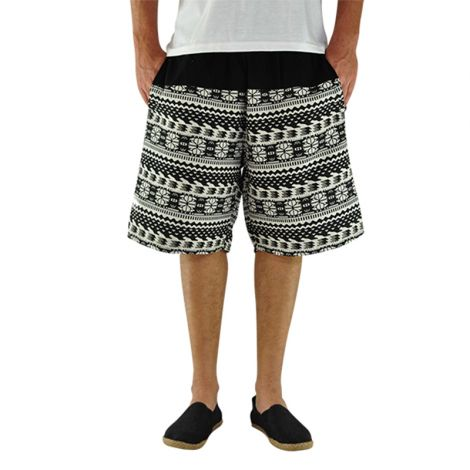 Hippie shorts Quintessenz black and white