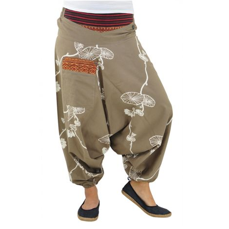 virblatt Genie Pants Halluzination grey-brown