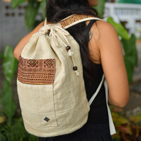 virblatt Hemp drawstring bag Freiheit Natural
